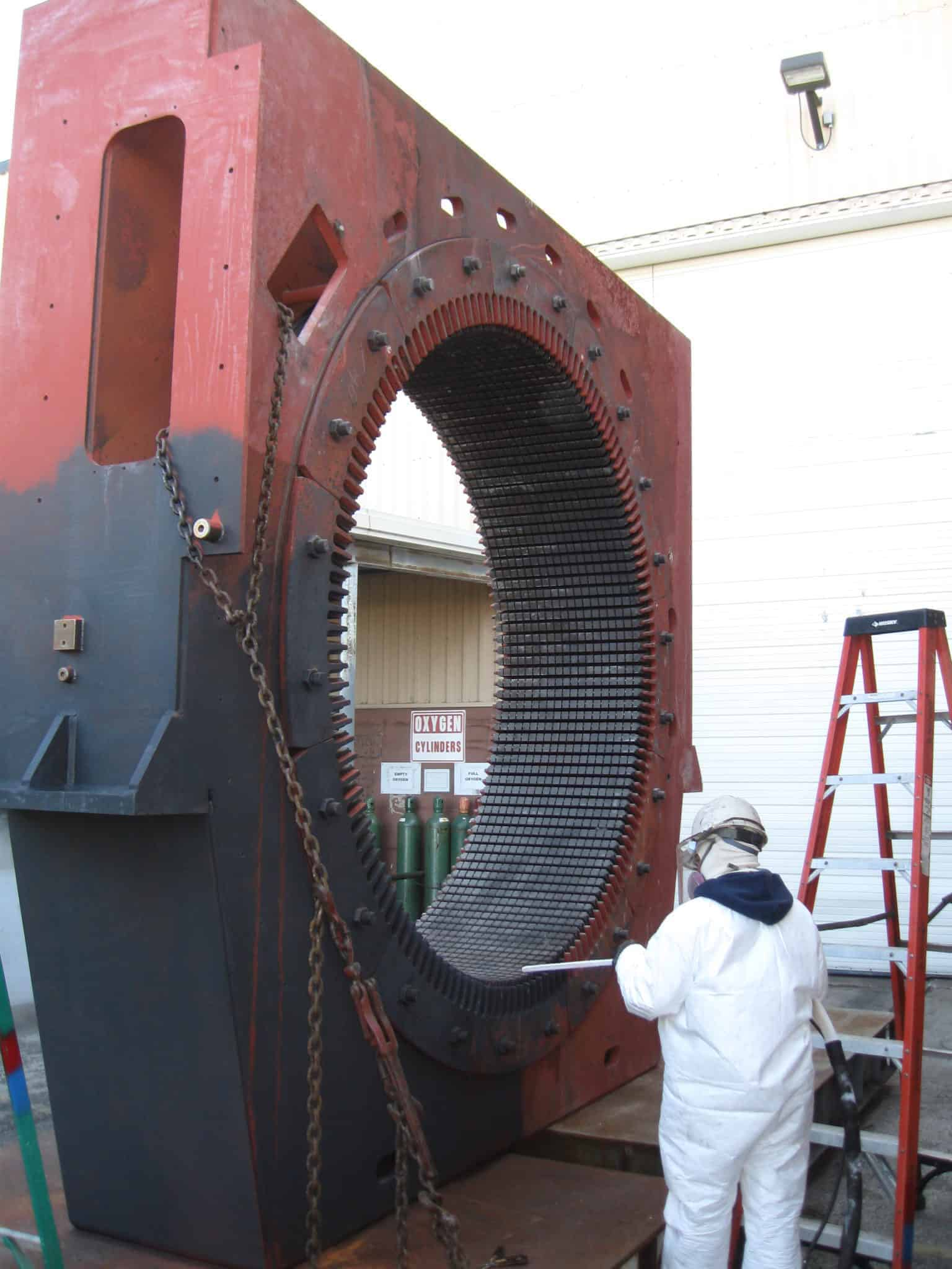 Dry ice blasting Electric motor - Large motor before