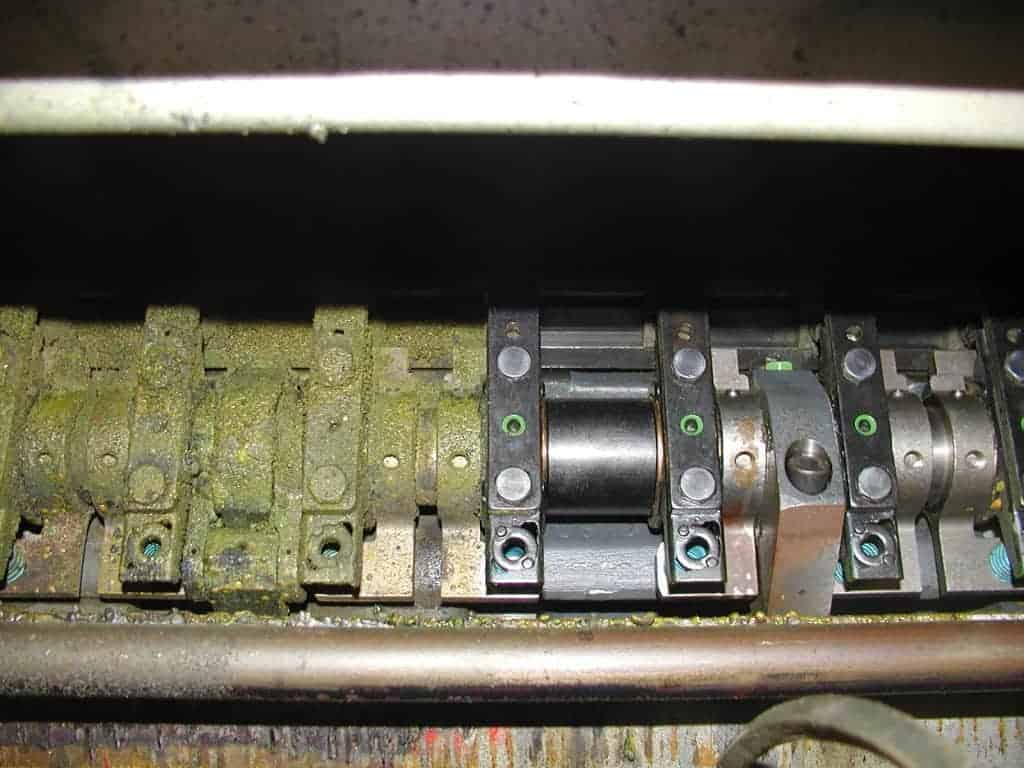 Grippers Printing Press Before and After cleaning