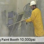 Water Blasting Paint Booth Using 10,000 PSI