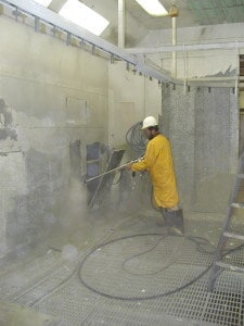Surface cleaning 10,000 psi waterblast