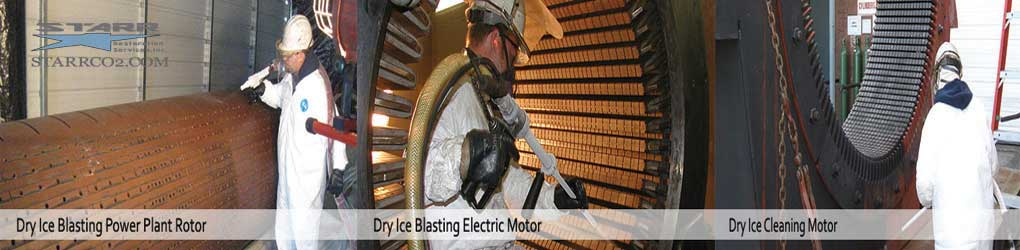 Dry-Ice-Cleaning-Electric-Motors-and-Power-Plant-Rotor
